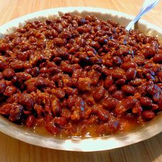 My Favorite Maple Baked Beans