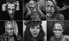 Their expressions have been captured by UK-based artist and photographer Lee Jeffries, who strives to reveal the human face of addiction, the reality of homelessness and the real face of poverty through his work. Urban Photography, Color Photography, Portrait Photography, Lee Jeffries, Science Gallery, Drugs Art, Art Addiction, Face Sketch, Street Portrait
