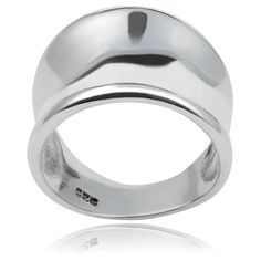 A tapered design lends artful shape to this modern ring, set in sterling silver for lasting shine. Size 10 Rings, Concave, Statement Rings, Band Rings, Sterling Silver Rings, Jewelry Watches, Wedding Rings, Rose Gold, Engagement Rings