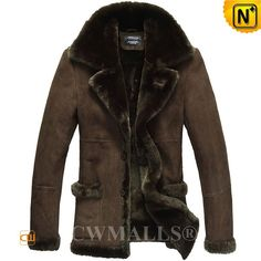 CWMALLS® New York Men's Shearling Sheepskin Jacket CW807136