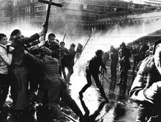 Berlin 1968 - thousands of students converge..