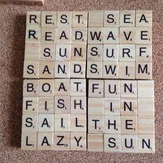 Handmade scrabble coasters Scrabble Letter Crafts, Scrabble Coasters, Scrabble Ornaments, Diy Coasters, Wooden Coasters, Scrabble Kunst, Scrabble Tile Art, Craft Show Ideas, Craft Sale