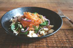 salada de salmão curado, lentilha vermelha e agrião | Francinha Cooks