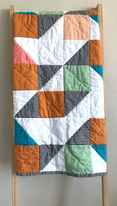 Quilt Meaning Gender Neutral Colors Quilt Binding Little Monsters Hand Quilting Baby Quilts Baby Room Baby Shower Gifts Cribs Quilting Projects, Quilting Designs, Sewing Projects, Sewing Ideas, Quilting Thread, Machine Quilting, Hand Quilting, Beginner Quilting, Modern Quilting