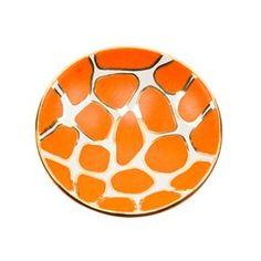 Orange Giraffe Print Bowl - just when I thought I was over giraffe prints!