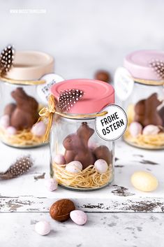 Osternest im Glas basteln: DIY Ostergeschenk – Nicest Things Make Easter basket in a jar Easter DIY jam jar Easter Gift, Easter Crafts, Happy Easter, Easter Ideas, Ostergeschenk Diy, Cute Gifts, Diy Gifts, Origami Diy, May Day Baskets