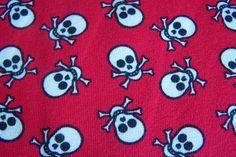 Jersey Totenkopf Sculls Skull Piraten rot weiß  von Rotznaeschenmode auf DaWanda.com