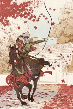#Dessin japonais tir à l'arc par ogimachiSNJ