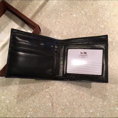 Coach Wallet - Men's Black Leather Brand new, never been used! Was a Christmas gift and is brand new from Coach store. Coach Wallet Men, Coach Store, Coach Bags, Wallets, Christmas Gifts, Black Leather, Xmas Gifts, Christmas Presents, Purses