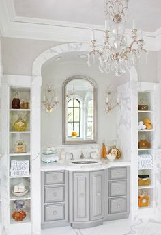 Mix and Chic: Cool designer alert- Betty Lou Phillips!  Like the marble niches