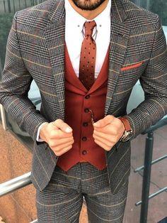 Collection: Fall – Winter Product: Slim-Fit Plaid Suit Vest Color Code: Black Available Size: Suit Material: viscose , polyester , lycra Machine Washable: No Fitting: Slim-Fit Package Include: Suit Clothes Coat, Vest & Pants Black Suit Vest, Plaid Suit, Suit And Tie, Burgandy Suit, Mens Suit Vest, Suit Men, Black Suits, Chaleco Casual, Casual Mode