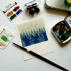 art acuarela This is how I practice my little trees Watercolor Video, Watercolor Painting Techniques, Watercolor Trees, Watercolour Tutorials, Painting Videos, Watercolor Landscape, Watercolour Painting, Painting & Drawing, Watercolor Sketchbook