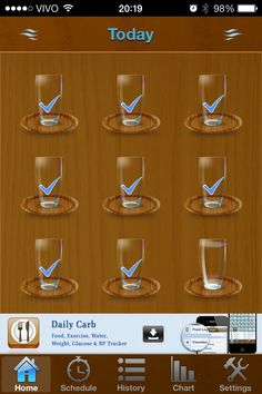 Daily Water: app lembra você de beber água todo o dia.
