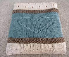 Knit Baby Blanket Pattern, Heart Baby Blanket Pattern, Easy Knitting Pattern by Deborah O'Leary - Baby Decke Sitricken Knitted Throw Patterns, Easy Knitting Patterns, Modern Crochet Blanket, Baby Blanket Crochet, Knitted Baby Blankets, Knitted Blankets, Baby Blanket Size, Blanket Sizes, Knitted Heart