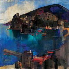 Town in Sicily, 1930 Aba Novák Painter, Pics, Vintage Artwork, Painting, Art, Vintage
