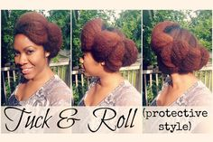 Roll & Tuck Protective Hairstyle on Natural Hair | Naturally Michy