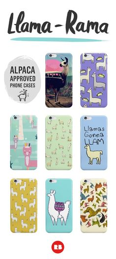 It's llama-rama! Adorable alpaca-approved iPhone cases can deck out your phone in fluffy, llama-loving style! Not for the faint of heart, these cases are crazy about #llamas. Find these and more cute animal smart phone covers on Redbubble.com.