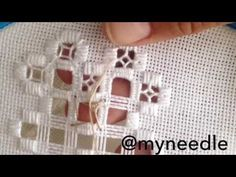 Hardanger embroidery. - YouTube … More