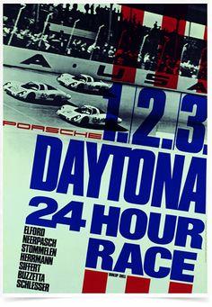 Poster Carros Porsche Daytona 24 Hour Race - Decor10