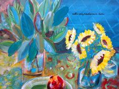 Still LIfe~ Blue Green  allisonpadams.com