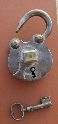 Chinesische Vintage Vorhangschloss Padlock-Verschluss Schloss mit Schlüssel