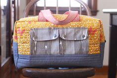 @ noodlehead: Cargo Duffle, Some more tips on how to sew up this great free pattern