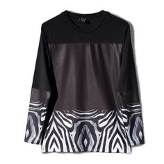 OverThrow Zebra Running L-S Tee F Horse, Running, Sweatshirts, Tees, Sweaters, T Shirt, Collection, Women, Fashion