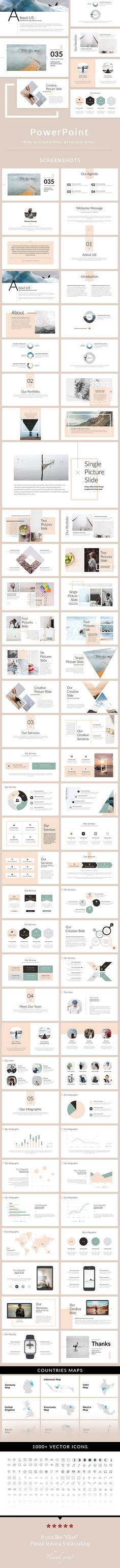 iQue - PowerPoint Presentation Template - Creative PowerPoint Templates - PowerPoint Presentation Template — Powerpoint PPT #corporate #flow chart
