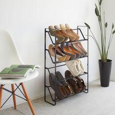 Slim Shoe Rack - Black | Yamazaki
