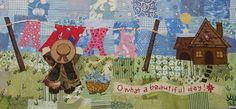 Laundry Fabric Collage by shebrews, via Flickr