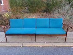 ~Wholesale, Danish Modern, 3 Pc. Mid Century Sofa with 2 Armchairs, Ole Wanscher #ScandanavianModern #OleWanscher