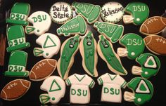 Delta State Football - Decorated Sugar Cookies by I Am The Cookie Lady