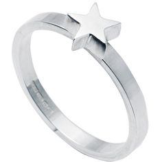 Edge Only - Star Stacking Ring Silver ($150) ❤ liked on Polyvore featuring jewelry, rings, polish jewelry, stacking rings jewelry, sparkle jewelry, silver stackable rings and band jewelry