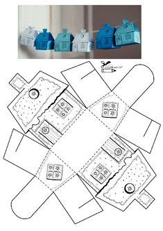Kutu ev kalıbı etkinlikleri çalışma sayfası, kalıpları etkinliği çalışmaları örnekleri sayfaları kağıdı yazdır, çıkart, indir.