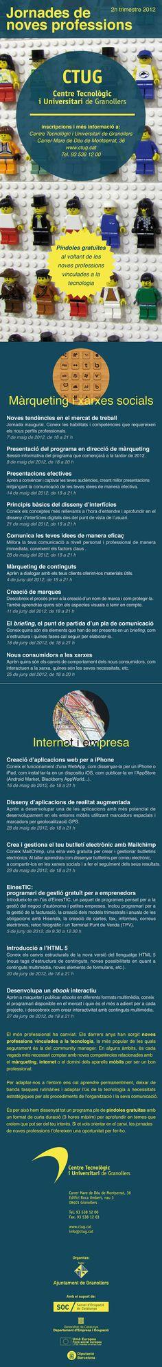 Jornades de noves professions. Píndoles gratuïtes per reforçar noves competències professionals. 2n trimestre de 2012