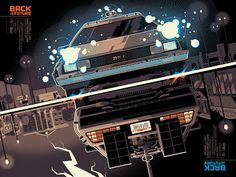 The Geeky Nerfherder: Cool Art: 'Back To The Future' by Tom Whalen