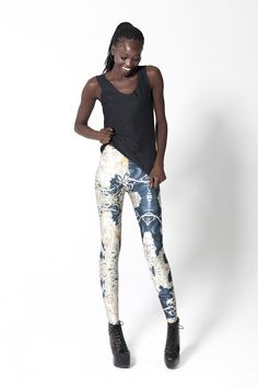 Mucha Black Leggings...Black Milk Clothing I love your stuff even more now if that is at all possible.