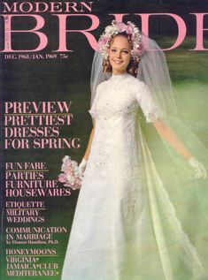 Bridal magazine of the . Vintage Bridal, Vintage Weddings, Dress Vintage, Wedding Attire, Wedding Gowns, Bridal Headpieces, Beautiful Bride, Bridal Dresses, Bridesmaid Dresses