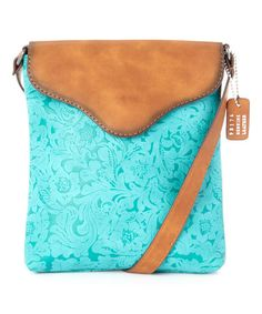 Look what I found on #zulily! Turquoise Embossed Crossbody Bag #zulilyfinds