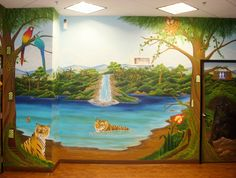 Murals painted at Children's dentistry of the Inland Empire. Rancho Cucamonga