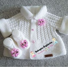 Knitting pattern available on Baby Knitting Patterns, Baby Cardigan Knitting Pattern, Knitted Baby Cardigan, Knit Baby Sweaters, Knitted Baby Clothes, Knitting For Kids, Knitting Designs, Baby Patterns, Free Knitting