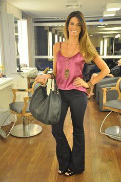 Inspiração de hoje!   Look da nossa repórter fashion Juliana Almeida @jujualmeida no salão do Proença @blogdopro  Peep toe CS #fashion #carmensteffens