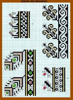 Embroidery Sampler, Folk Embroidery, Cross Stitch Embroidery, Embroidery Patterns, Cross Stitch Borders, Cross Stitching, Cross Stitch Patterns, Granny Square Projects, Pixel Crochet
