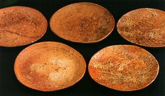 Plates, Shigaraki ware, Edo period