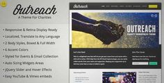 Download and review of Outreach - Charity WordPress Theme, one of the best Themeforest Non-profit themes