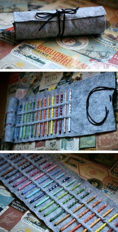 Colour Pencil Pouch..!