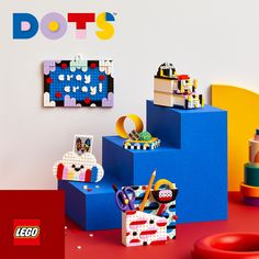 Inspire a child's creativity with the Creative Designer Box - 41938 - Create your own design! #Dotyourworld Kids Craft Sets, Crafts For Kids, Creative Skills, Creative Activities, Decor Crafts, Diy Crafts, Dots Design, Graphic Design, Buy Lego