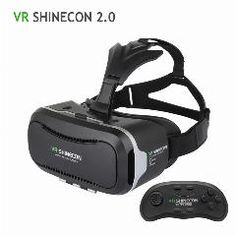 [ 19% OFF ] 100% Original Vr Shinecon 2.0 Upgraded 3D Glasses Vr Headset Uv Filter Protect Eyesight Virtual Reality Glasses 2016 Hot