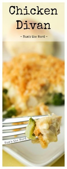 Chicken Divan Casserole is a simple, and tasty weeknight meal!  Perfect for leftover Turkey or a Rotisserie chicken and freezer friendly!