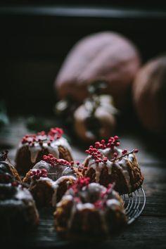 Pumpkin Mascarpone Mini Bundt Cakes w/Creme Fraiche Glaze   Adventures In Cooking